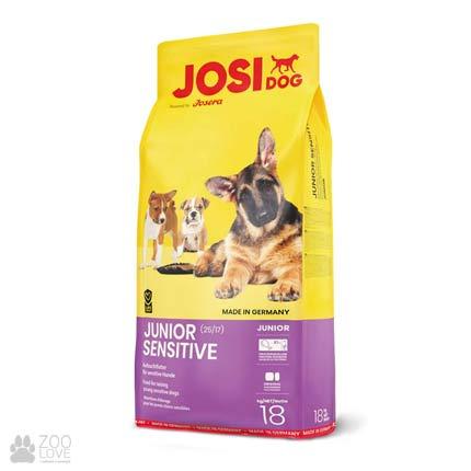 Фотография корма для щенков Josidog Junior Sensitive 25/17, мешок 18 кг