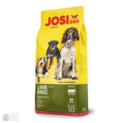 Фотография корма для собак с мясом ягненка Josidog Lamb Basic 22/14, мешок 18 кг