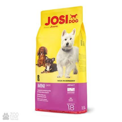 Фотография корма для собак мелких пород Josidog Mini 26/11, мешок 18 кг