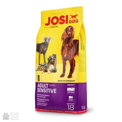 Фотография корма для собак с чувствительным пищеварением Josidog Adult Sensitive 25/13, мешок 18 кг