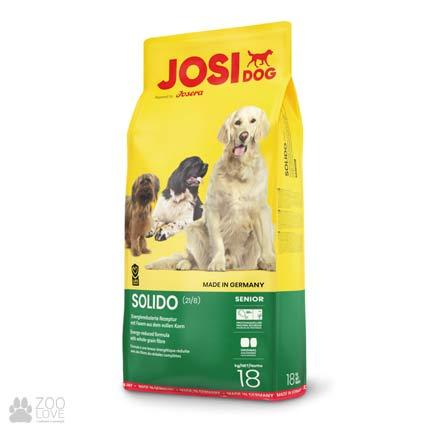 Фотография корма для собак с мясом ягненка Josidog Solido 21/8, мешок 18 кг