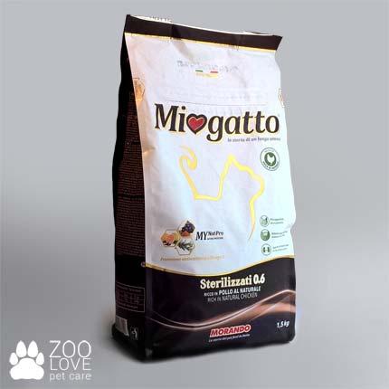 Фото упаковки сухого корма Morando Miogatto Sterilizzati 0.6 1,5 кг