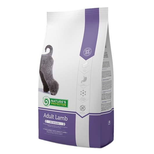 Упаковка сухого корма для собак Natures Protection Adult Lamb 4 кг
