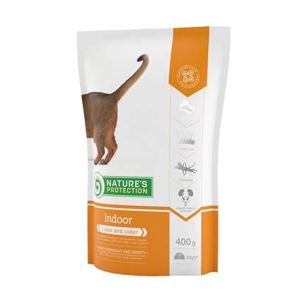 Упаковка сухого корма для кошек Nature's Protection Indoor, 400 гр (старый дизайн)