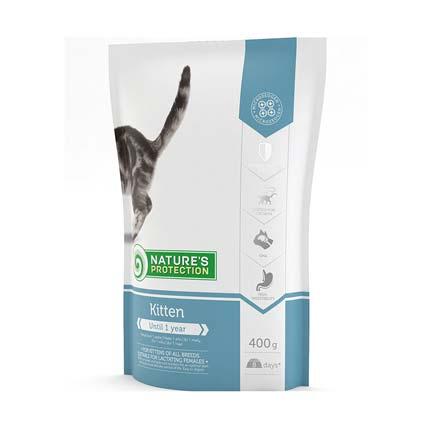 Изображение упаковки сухого корма Nature's Protection для котят 400 грамм