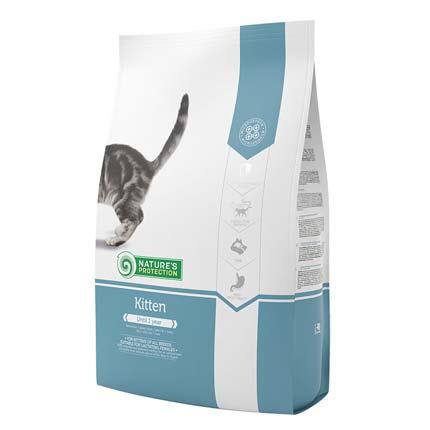Изображение упаковки сухого корма Nature's Protection для котят