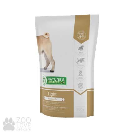 Упаковка сухого корма для собак с ожирением и после стерилизации Nature's Protection Light (Натур Протекшн Лайт) 0,5 кг