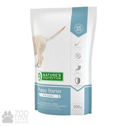 Фото упаковки корма для щенков Natures Protection Puppy Starter 0,5 кг