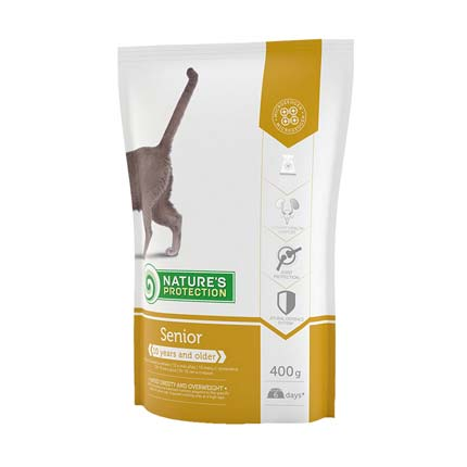 Nature's Protection Senior, сухой корм для кошек, упаковка 400 грамм (старый дизайн)