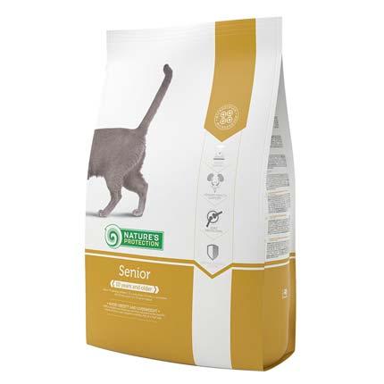 Nature's Protection Senior, сухой корм для пожилых кошек, упаковка 2 кг (старый дизайн)