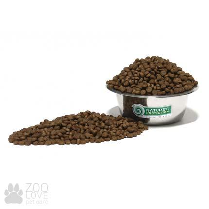 Вид гранул сухого корма для кошек Nature's Protection Sensitive Digestion