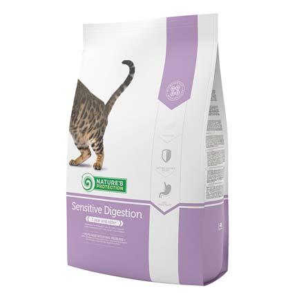 Упаковка сухого корма для кошек Nature's Protection Sensitive Digestion от 2 кг (старый дизайн)