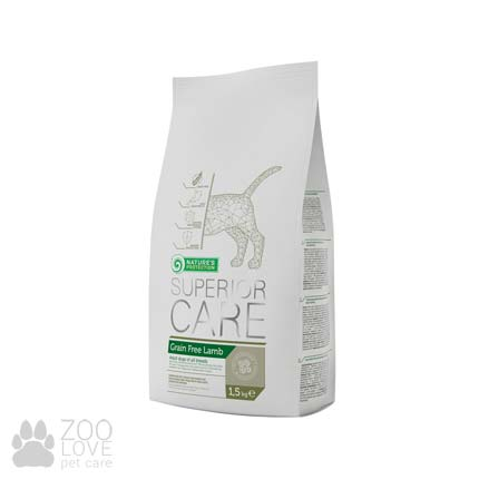 Упаковка сухого корма для собак Nature's Protection Superior Care Grain Free Lamb 1.5 кг