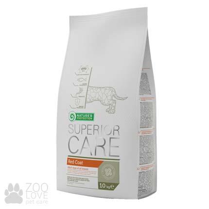 Упаковка сухого корма для собак с рыжей шерстью Nature's Protection Superior Care Red Coat 10 кг