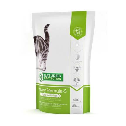 Nature's Protection Urinary Formula-S, сухой корм для кошек, упаковка 400 гр