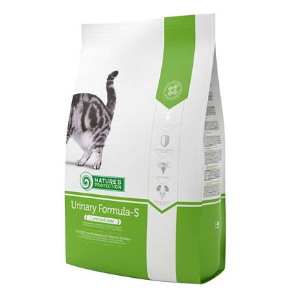 Пачка сухого корма для кошек Nature's Protection Urinary Formula-S, 2 кг