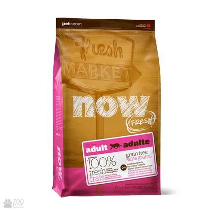 Now Fresh Adult Grain Free Cat, Фото упаковки беззернового сухого корма для кошек