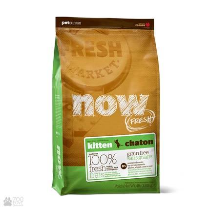Now Fresh Kitten Grain Free, Фото упаковки беззернового сухого корма для котят