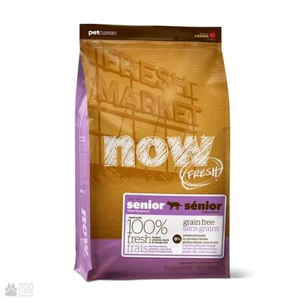 Now Fresh Senior Grain Free, Фото упаковки беззернового сухого корма для пожилых котов