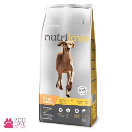 Nutrilove Active All Breeds сухой корм для взрослых активных собак