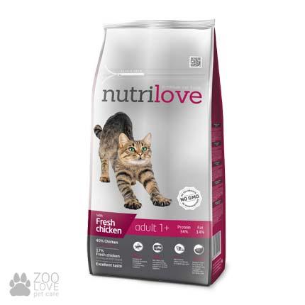 Изображение упаковки сухого корма Nutrilove Adult для кошек