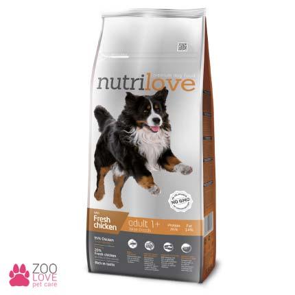Фото упаковки корма Nutrilove Adult Large Breeds, для взрослых собак крупных пород, 12 кг