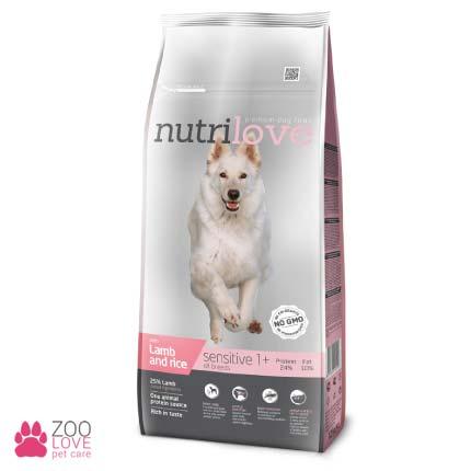 Nutrilove Sensitive сухой корм для собак с чувствительным пищеварением