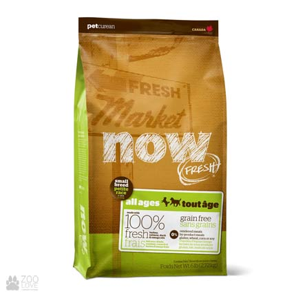 Now Fresh Small Breed Grain Free, Фото упаковки корма для собак