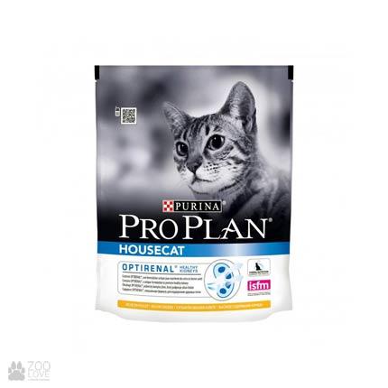 Пачка корма Pro Plan Housecat для домашних котов с курицей, 400 грамм