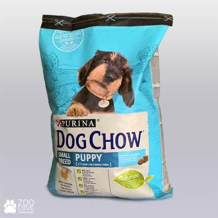 Фото корма для щенков малых пород Purina Dog Chow Puppy Small Breed, упаковка 7,5 кг