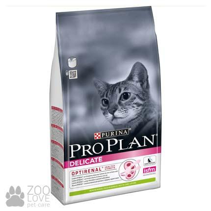 Фото корма для котов с чувствительным пищеварением Purina Pro Plan Delicate Lamb 10 кг с мясом ягненка