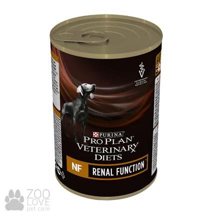 Изображение упаковки консервы для сообак при почечной недостаточности Purina Veterinary Diets NF