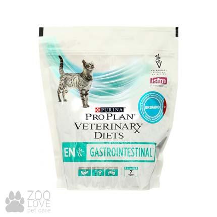 Фото корма лечебного диетического сухого для котов Purina Veterinary Diets Gastroenteric (EN) упаковка 400 г.