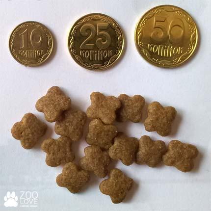 Размер, диаметр и вид корма Royal Canin Mini Adult