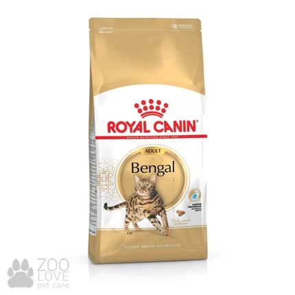 Фото упаковки сухого корма для кошек Royal Canin Bengal Adult бенгальской породы