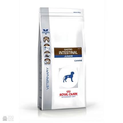 Упаковка сухого лечебного корма для щенков Royal Canin Gastro Intestinal Junior