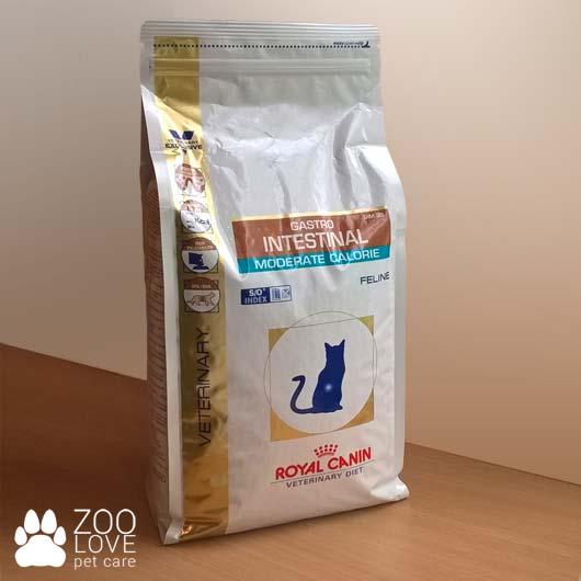 Корм для кошек Royal Canin GASTRO INTESTINAL MODERATE CALORIE при нарушениях пищеварения, упаковка 2 кг