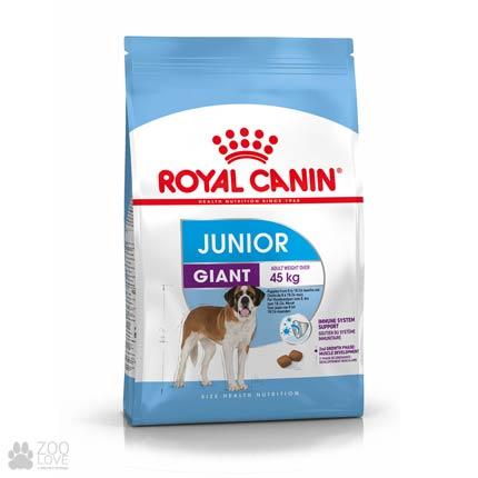 Изображение упаковки сухого корма для щенков гигантских размеров Royal Canin GIANT JUNIOR (2018)