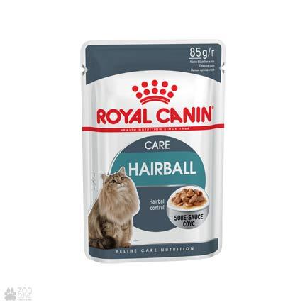 Фото корма для кошек Royal Canin HAIRBALL CARE для выведения шерсти (образец с 2018 года)