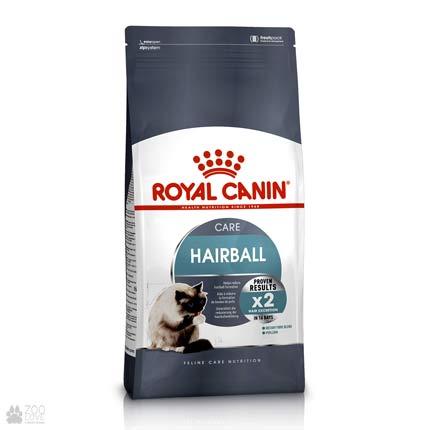 Изображение корма для кошек Royal Canin HAIRBALL CARE для выведения шерсти (дизайн 2018 года)