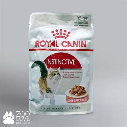 Консервы для котов Royal Canin Instinctive в соусе, упаковка, пауч, 85 г