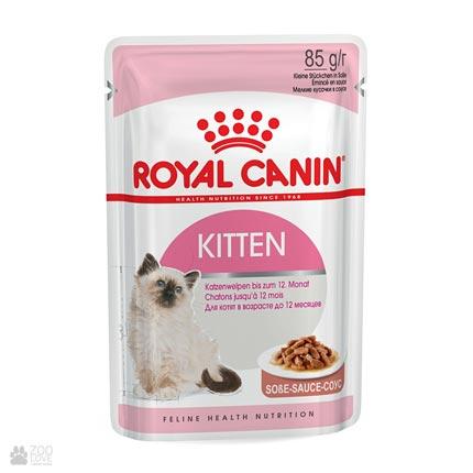 Корм для котят Royal Canin KITTEN INSTINCTIVE в соусе (дизайн упаковки с 2018 года)