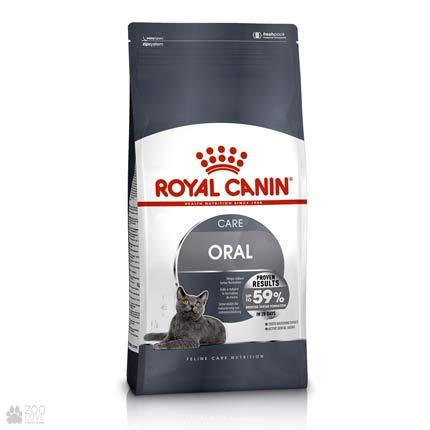 Изображение упаковки корма для кошек Royal Canin ORAL CARE для профилактики зубного камня (образец с 2018 года)