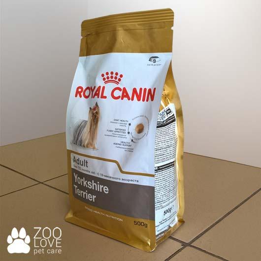 Упаковка сухого корма Royal Canin для йорков, 500 гр