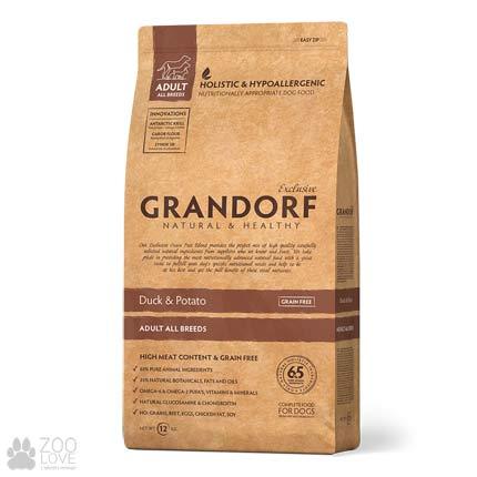 Изображение упаковки сухого корма для собак Grandorf Duck & Potato Adult All Breeds