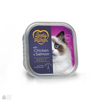 Lovely Hunter Adult Chicken & Salmon, консервы для кошек с курицей и лососем