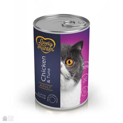 Lovely Hunter Adult Chicken & Tuna, консервы для кошек с курицей и тунцом