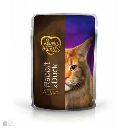 Lovely Hunter Adult Rabbit & Duck, консервы для кошек с кроликом и уткой