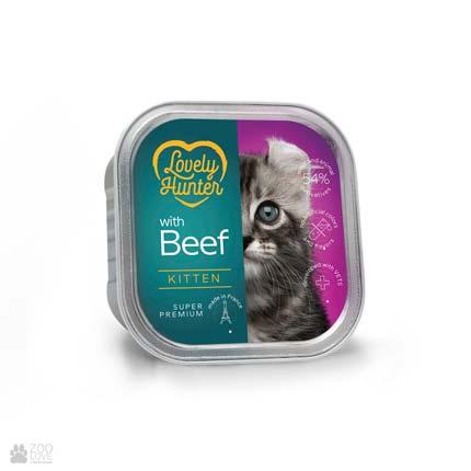 Lovely Hunter Kitten Beef, консервы для котят с говядиной