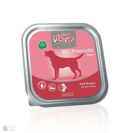 igliorcane Unico Ham, корм для собак, паштет со свининой, 300 г
